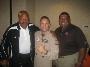 Waldo Waldman With Football Legend Jim Brown