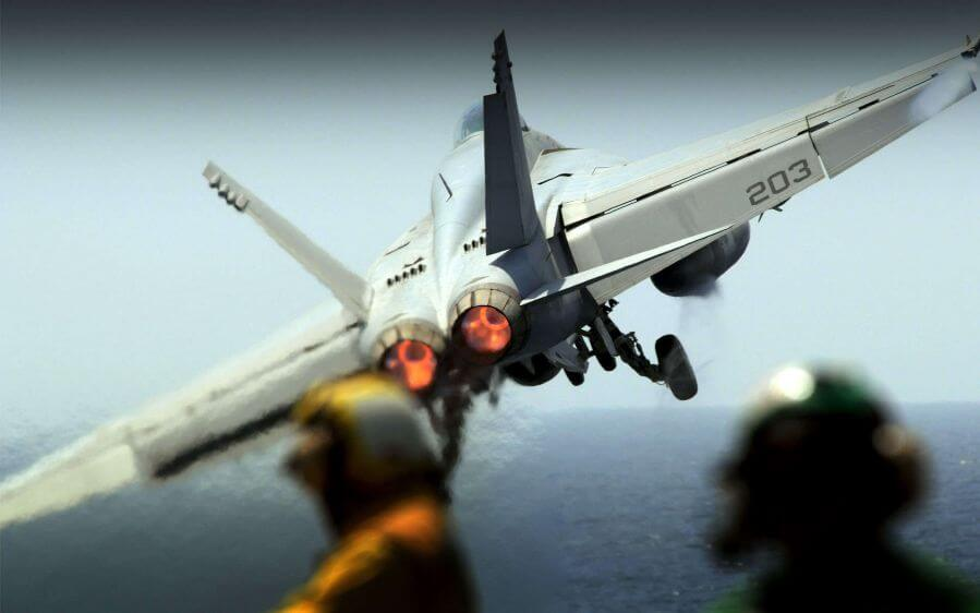 F-18 Fighter Jet Take Off