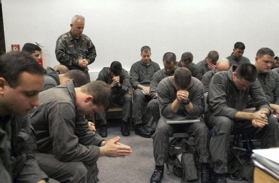 Pre-Mission Prayer with Military Speaker